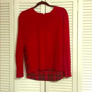 Michael Kors red crew sweater